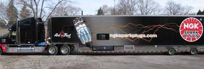 Semi Trailer Graphics for NGK Sparkplugs